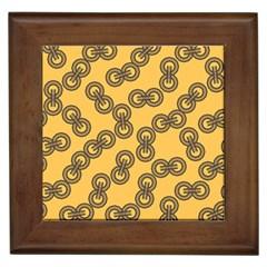 Abstract Shapes Links Design Framed Tiles