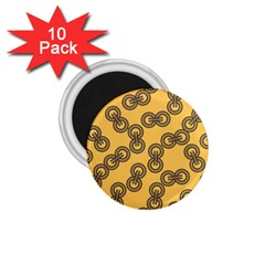 Abstract Shapes Links Design 1.75  Magnets (10 pack)