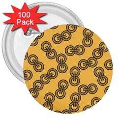 Abstract Shapes Links Design 3  Buttons (100 pack)