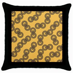 Abstract Shapes Links Design Throw Pillow Case (Black)