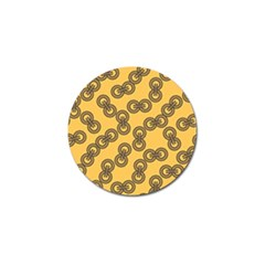 Abstract Shapes Links Design Golf Ball Marker