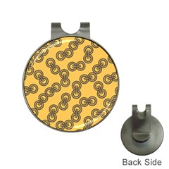 Abstract Shapes Links Design Hat Clips With Golf Markers