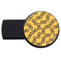 Abstract Shapes Links Design Usb Flash Drive Round (4 Gb)