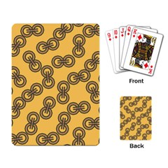 Abstract Shapes Links Design Playing Card