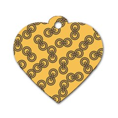 Abstract Shapes Links Design Dog Tag Heart (Two Sides)