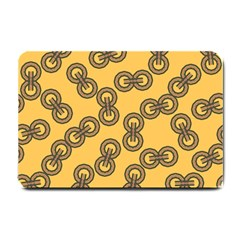 Abstract Shapes Links Design Small Doormat