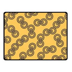 Abstract Shapes Links Design Fleece Blanket (Small)