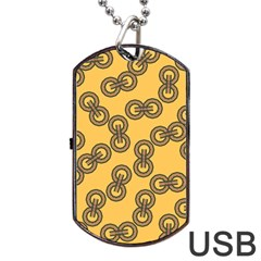 Abstract Shapes Links Design Dog Tag USB Flash (Two Sides)