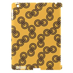 Abstract Shapes Links Design Apple iPad 3/4 Hardshell Case (Compatible with Smart Cover)