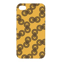 Abstract Shapes Links Design Apple Iphone 4/4s Premium Hardshell Case
