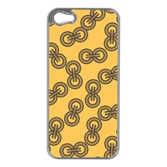 Abstract Shapes Links Design Apple iPhone 5 Case (Silver)