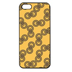Abstract Shapes Links Design Apple iPhone 5 Seamless Case (Black)