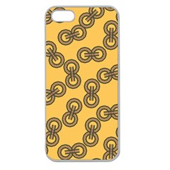 Abstract Shapes Links Design Apple Seamless Iphone 5 Case (clear)