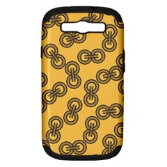 Abstract Shapes Links Design Samsung Galaxy S III Hardshell Case (PC+Silicone)