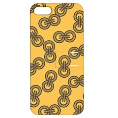 Abstract Shapes Links Design Apple Iphone 5 Hardshell Case With Stand