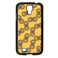 Abstract Shapes Links Design Samsung Galaxy S4 I9500/ I9505 Case (black)