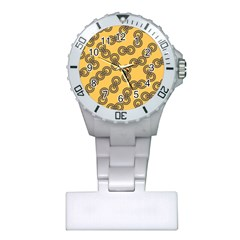 Abstract Shapes Links Design Plastic Nurses Watch