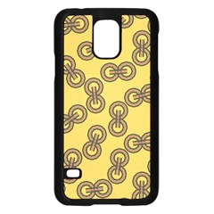 Abstract Shapes Links Design Samsung Galaxy S5 Case (black)