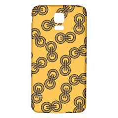 Abstract Shapes Links Design Samsung Galaxy S5 Back Case (White)