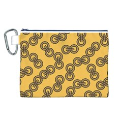 Abstract Shapes Links Design Canvas Cosmetic Bag (L)