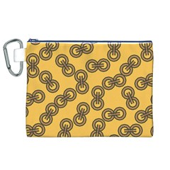 Abstract Shapes Links Design Canvas Cosmetic Bag (xl)