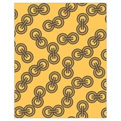 Abstract Shapes Links Design Drawstring Bag (Small)