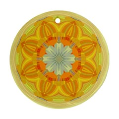 Sunshine Sunny Sun Abstract Yellow Ornament (Round)