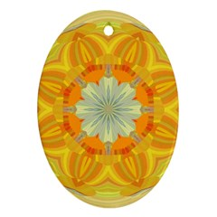 Sunshine Sunny Sun Abstract Yellow Ornament (oval)