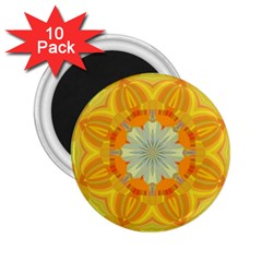 Sunshine Sunny Sun Abstract Yellow 2 25  Magnets (10 Pack)