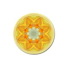 Sunshine Sunny Sun Abstract Yellow Magnet 3  (round)