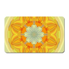 Sunshine Sunny Sun Abstract Yellow Magnet (rectangular)