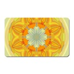 Sunshine Sunny Sun Abstract Yellow Magnet (Rectangular) Front