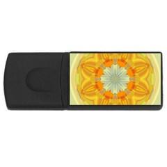 Sunshine Sunny Sun Abstract Yellow USB Flash Drive Rectangular (4 GB)