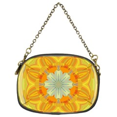 Sunshine Sunny Sun Abstract Yellow Chain Purses (Two Sides)