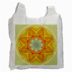 Sunshine Sunny Sun Abstract Yellow Recycle Bag (one Side)