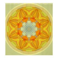Sunshine Sunny Sun Abstract Yellow Shower Curtain 66  X 72  (large)