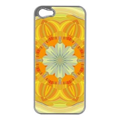 Sunshine Sunny Sun Abstract Yellow Apple Iphone 5 Case (silver)