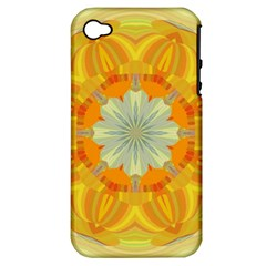Sunshine Sunny Sun Abstract Yellow Apple iPhone 4/4S Hardshell Case (PC+Silicone)