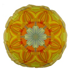Sunshine Sunny Sun Abstract Yellow Large 18  Premium Round Cushions