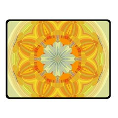 Sunshine Sunny Sun Abstract Yellow Double Sided Fleece Blanket (small)