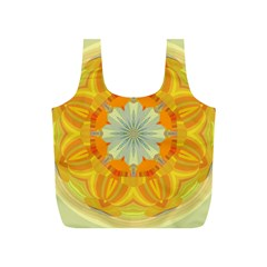 Sunshine Sunny Sun Abstract Yellow Full Print Recycle Bags (S)