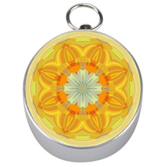 Sunshine Sunny Sun Abstract Yellow Silver Compasses