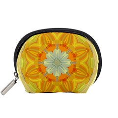 Sunshine Sunny Sun Abstract Yellow Accessory Pouches (small)