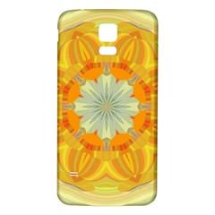 Sunshine Sunny Sun Abstract Yellow Samsung Galaxy S5 Back Case (white)