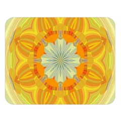 Sunshine Sunny Sun Abstract Yellow Double Sided Flano Blanket (large)