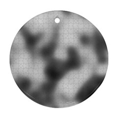 Puzzle Grey Puzzle Piece Drawing Ornament (Round)