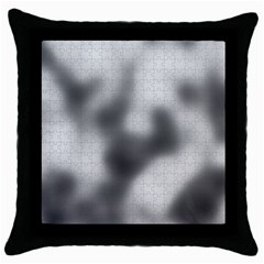 Puzzle Grey Puzzle Piece Drawing Throw Pillow Case (Black)