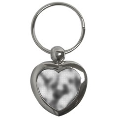 Puzzle Grey Puzzle Piece Drawing Key Chains (heart)
