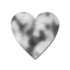 Puzzle Grey Puzzle Piece Drawing Heart Magnet