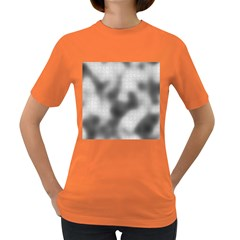 Puzzle Grey Puzzle Piece Drawing Women s Dark T-Shirt